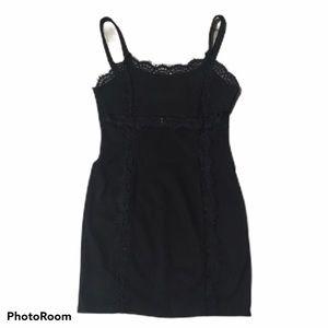 TOBI bodycon lace trimmed mini dress. Small